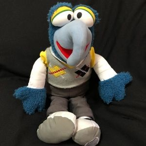 "Preppy Gonzo 17"" plush authentic Disney muppet"